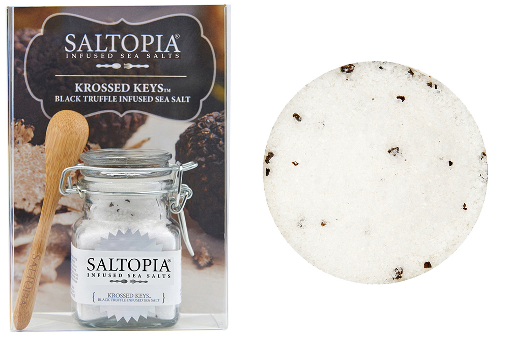 Krossed Keys Black Truffle Infused Sea Salt (3.4 oz)